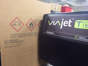 Label replacement with T-Series piezoelectric inkjet from Matthews Marking Systems